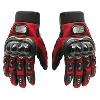 Wholesale Cycling Gifts For Men - Fashion Carbon Fiber Red Motorcycle Motorbike Cycling Racing Full Finger Gloves for Men Women Christmas Gift