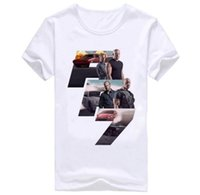 Wholesale Fast Round Neck - 3D Printing Causal T-shirt New Mens Fast and Furious Character and Short Sleeve T-shirt Hot Mens Cotton and Round Collar Slim Shirt