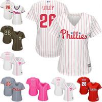 bb9f614798b ... Baseball Women Short Womens Philadelphia Phillies 26 Chase Utley  Jerseys Baseball Jerseys White Red Coolbase FlexBase ...