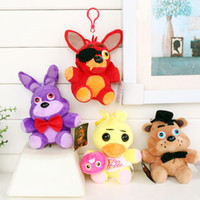 Wholesale Freddy Plush - 15-18cm Five Nights At Freddy's 4 FNAF Bonnie Freddy Bear Chica Foxy Plush Toys Doll Soft Stuffed Animals Toys With Tag b945