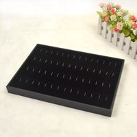 Wholesale Display Rows - 36x24x3cm Velvet Jewelry Pendant display stands Gifts Display Case 4 row Pendant Holder Organizer box pendant display tray tool