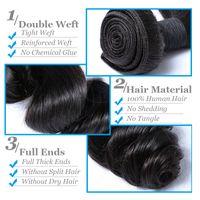 Wholesale Brazilian Vigin Hair - Brazilian vigin hair 3bundles deepwave 8-30inch peruvian human hair loosewave weave unprocessed accept custom human hair extension