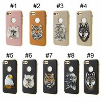 Wholesale Embroidery Cases Iphone - New Sophisiticated Design TPU + Embroidery, 3 Kinds of Technology, Drop Resistance Phone Case For iPhone 7 7plus For Samsung S8 S8 Plus DHL