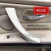 Wholesale Bmw Inner - BMW Series 3 e90 raw leather car inner door handle cover  car inner door handle cover   car interior trim