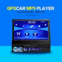 Wholesale Dvr Mobile Phone - Car Navigator 7 inch universal car DVD car DVR retractable screen Bluetooth GPS