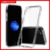 Wholesale Dust For Iphone - For iphone 7 plus clear case air cushion anti-shock tpu case stereo sound speake back fully closed anti-dust cover for iphone 6s plus