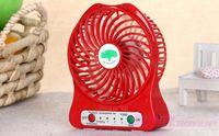 Wholesale Personal Electric Fans - 500pcs set micro USB fashion Fan Mini Electric Personal Fans LED Portable Rechargeable Desktop Fan Battery Cooling Operated Fan