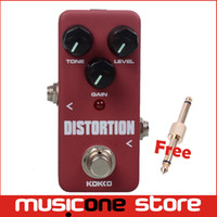 Wholesale Mini Distortion Pedal - KOKKO FDS2 Mini Distortion effect Pedal Portable Guitar Effect Pedal with gold Connector
