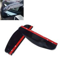espejos traseros del coche al por mayor-10Pair = 20Pcs / Lot Universal Car Back Espejo Ceja Lluvia Lluvia, Burlete Espejo retrovisor Rain Shade Car Styling, PVC Rainproof Blades
