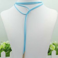 Wholesale Leather Bib Necklaces - New Hot sale Long choker necklace fashion necklace costume collar bib torques statement choker necklace N18