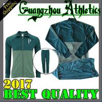 Wholesale Top Grey Suits - top quality 2017 Palmeiras SOCCER JERSEY jacket Training suit GREEN DUDO G.JESUS JEAN ALECSANDRO Palmeiras ALLIONE CLEITON XAVIER 17 18