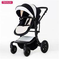 Wholesale Trolley Lie - High Quality Bidirectional PU Stroller Pram for 0-36 Months Baby Sitting & Lying, Fast Folding Pushchair, Portable Children Trolley