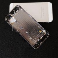 iphone logement de remplacement noir achat en gros de-Pour l'iPhone 6 6 plus le logement de la couverture arrière de la porte arrière des téléphones cellulaires de remplacement parties noir blanc or couleur