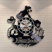 kitap saatleri toptan satış-Jungle Book Mowgli Ayı Costume_Exclusive duvar saati vinil record_GIFT yapılmış, Duvar saati, vinil, mobilya, dekorasyon,
