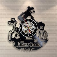 Wholesale furniture bearing - Jungle Book Mowgli Bear Costume_Exclusive wall clock made of vinyl record_GIFT,Wall clock,vinyl,furniture,decoration,