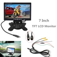 Wholesale headrest monitors for sale - Group buy 7 Inch CH HD TFT LCD Screen Car Monitor for Rear View Camera Auto Parking Backup Reverse Headrest Monitor CMO_30M