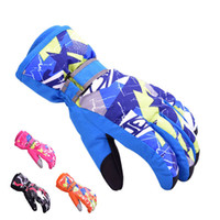 Wholesale children glove winter for sale - Children Winter Gloves Skiing Hot Boys Girls Sports Snow Windproof Waterproof Gloves Wrist Extended Skiing Keep Warm lx J1