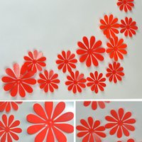 3D Flower Wall Stickers 12Pcs Creative Colorful Removable Home And Garden  Decors Art DIY Plastic Decorations Part 72