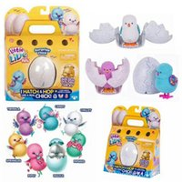 Wholesale Mini Toys Plastic Kids - Little Live Pets Mini Eggs Surprise Chick Will walk Will call simulation Toys For Kids Christmas Birthday Gift 12pcs OOA3719