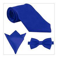 Wholesale Mens Silk Handkerchiefs Wholesale - Fashion Mens Ties Polyester Skinny Neck Ties Satin Solid Color Necktie Tie Hanky Handkerchief Pocket Square 3pcs Set Men Gift Ideas