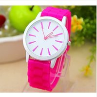Wholesale Geneva Silicone Watches Price - Fashion small pure and fresh and GENEVA silicone watches lady jelly candy color quartz watches wholesale price free shipping