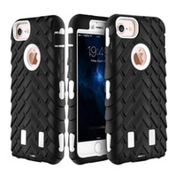 Wholesale Chinese Tires Brands - Tire Style 3 in 1 Silicone & Hard Plastic Armor Hybrid Protection Shockproof Cover For Iphone 5 6S Plus 7 7plus Samsung S6 S6 edge S7 Edge