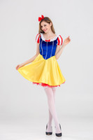 Wholesale Princess Dresses For Adults - Halloween Adult snow white halloween costumes for women Snow White Princess Costume Women Sexy Dress Cosplay Costume