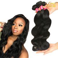 Wholesale Cheap Dyeable Human Hair - Factory Brazilian Virgin Hair Body Wave Bundles Dyeable Brazilian Remy Human Hair Wave Cheap Brazilian Hair 4Bundles GaGa Queen Body Wave