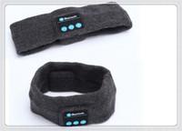 спортивный беспроводной наушник для наушников mp3 оптовых-Мода Беспроводная Bluetooth Hat наушники гарнитура наушники Bluetooth динамик спорта на открытом воздухе йога пот шарф mp3-плеер громкой связи