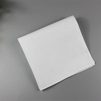 Pure White Hankerchiefs 100% Cotton Handkerchiefs Women Men 28cm * 28cm Pocket Square Wedding Plain Stampa DIY Disegna Hankies
