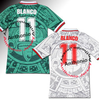 Wholesale mexico jersey red resale online - 1998 MEXICO RETRO VINTAGE BLANCO Thailand Quality soccer jerseys uniforms Football Jerseys shirt Embroidery Logo camiseta futbol