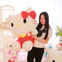 Wholesale gift toy for girlfriend - Wholesale- 60cm Big Hello Kitty Doll Brinquedos Stuffed Animals Toys High Quality Hello Kitty Plush Toys For Girl Polka Dot Girlfriend Gift