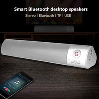 Wholesale Speakers For Desktop Computers - Wireless Sound bar DSP Bluetooth Speakers Smart Bluetooth desktop stereo speakers for iPad Laptop Mac Tablets Super Bass 3D Sound Effects