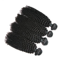 Wholesale Indian Remy Jerry Curls - 6A Kinky Curly Malaysian Human Hair Remy Virgin Hair Extension 4Pcs lot Healthy Donor Jerry Curl Can Be Dyed Restyled