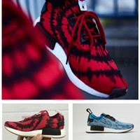 Wholesale Nice Girls Boys - Original NMD Kids running shoes R1 PK NICE KICKS boys running shoes black blue red outdoor toddler athletic boy & girl sneaker size 28-35