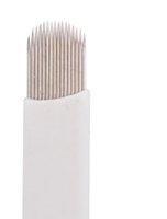 Wholesale Superior Blades For Permanent Makeup - A16 50pcs lot U-Shape Eyebrow Tattoo 16-pin Needle Superior Blades For Permanent Makeup Manual Pen Free shipping