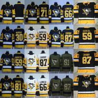 Wholesale Red Mario - 2017-18 New Season Pittsburgh Penguins Jersey 66 Mario Lemieux 71 Evgeni Malkin 81 Phil Kessel 87 Sidney Crosby Hockey Jerseys Cheap