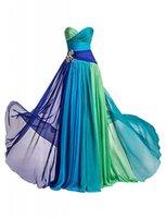 Wholesale Rhinestone Colorful Evening Dresses - Dormencir® Women's Rhinestone Colorful Long Bridesmaid Prom Evening Dresses
