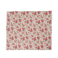 linen textile cotton fabric UK - Hoomall 1PC 97*50cm Rose Natural Linen Cotton Fabric Quilting Patchwork DIY Sewing Fabric Textile Sewing Cloth