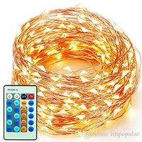 Wholesale Copper Wire Factory - IMpopular 2m 6.6ft 10m 33ft 20m 66ft Copper Wire LED String Fairy Light Home Factory Office Lamp Indoor and Outdoor Starry String Lights