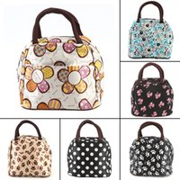 Wholesale Waterproof Tote Bag Pattern - Wholesale- Top Portable Waterproof outdoor Picnic Lunch Bag Creative Design Colorful Easy Carry Picnic Totes Carry Bag Various Pattern