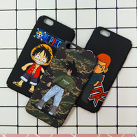 Wholesale One Piece Hard Case - Carton Cute SLAM DUNK One Piece Phone Case Hard Pc Matte Back Cover For iPhone 6 6s 6plus 7 Plus Caes Patterned Coque