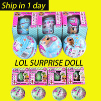 Wholesale Kids Dress Up Toys - LOL SURPRISE DOLL Series 2 Dress Up Toys baby Tear change egg can spray Realistic Baby Dolls lil sisters 45+ to Collect OTH646