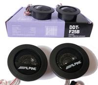 Wholesale Tweeter Speakers Car Audio - Wholesale- Universal High Efficiency Car Audio Speaker 1Pair Car Mini Dome Tweeter Loudspeaker Alpine Super Audio Auto Sound Car Tweeters