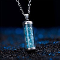 Wholesale Colored Stainless Steel Pendants - 5 Styles Geometric Cylindrical Necklace Multi - colored Beads Jewelry Simple Women 's Necklace Jewelry Accessory Wholesale