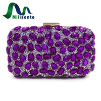 porte-monnaie argentée achat en gros de-Vente en gros - Milisente Embrayages Femmes Evening Clutch Bag Embrayages en or Sacs Blue Party Sac à main en argent