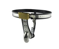 Wholesale Locking Pants Belt - Free Sipping!! Hot Male Chastity Belt Sex Toys Men Cock Cage Stainless Steel Chastity Pants Penis Lock Adjustment Penis Sleeve Lock