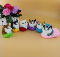 Wholesale Cloth Mouse - Simulation Sounding Shoe Kittens Doll Cats Plush Cute Toys Kids Appease Christmas Birthday Super Cute Gifts