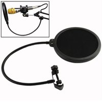 Wholesale Microphone Gooseneck - Flexible Mic Microphone Studio Wind Screen Pop Filter Mask Shied Gooseneck For Speaking Recording 2017 Hot selling