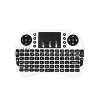 Wholesale fs remote resale online - Wireless Keyboard rii i8 keyboards Fly Air Mouse Multi Media Remote Control Touchpad Handheld for TV BOX Android Mini PC B FS